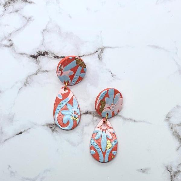 PRICE REDUCED ** Pretty Orange BoHo Drop Earrings
